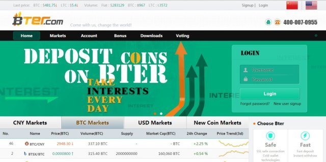 BTER.com - Bitcoin Exchanges