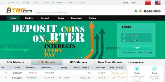 BTER.com -Bitcoin Exchanges