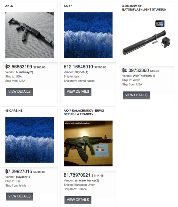 weapons found in deep web