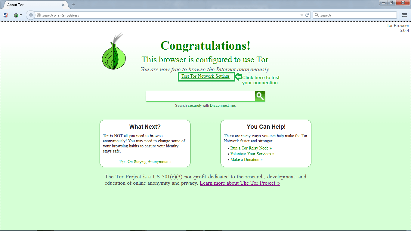 Tor Browser Installationstep 9