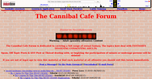 Most Disturbing Sites on the Dark Web cannibal forum