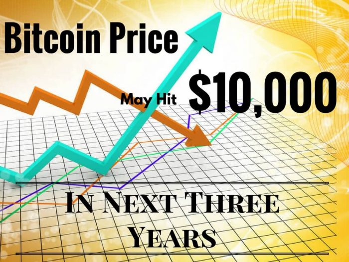 Bitcoin's Price hits $10,000
