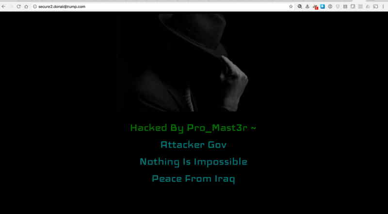 "Donald Trump's Website hacked, claims Iraqi Attacker and States ""Nothing is Impossible"""