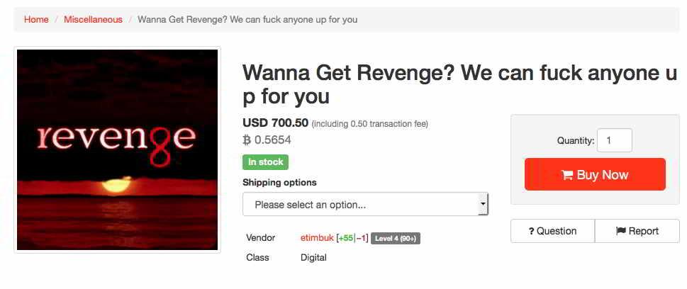 Dark Web Revenge Services
