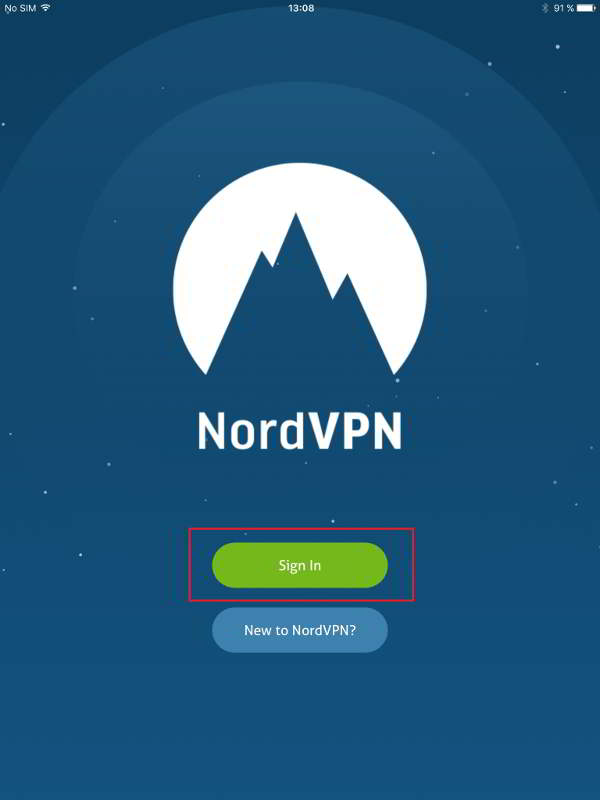 How to access the deep web dark web on iphoneipad ios guides step 5 on the nordvpn home page existing users tap to sign in or register if you are a new user ccuart Images