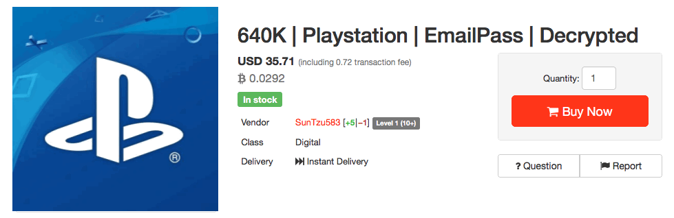 On Sale: 640K Decrypted PlayStation Accounts in Dark Web Market