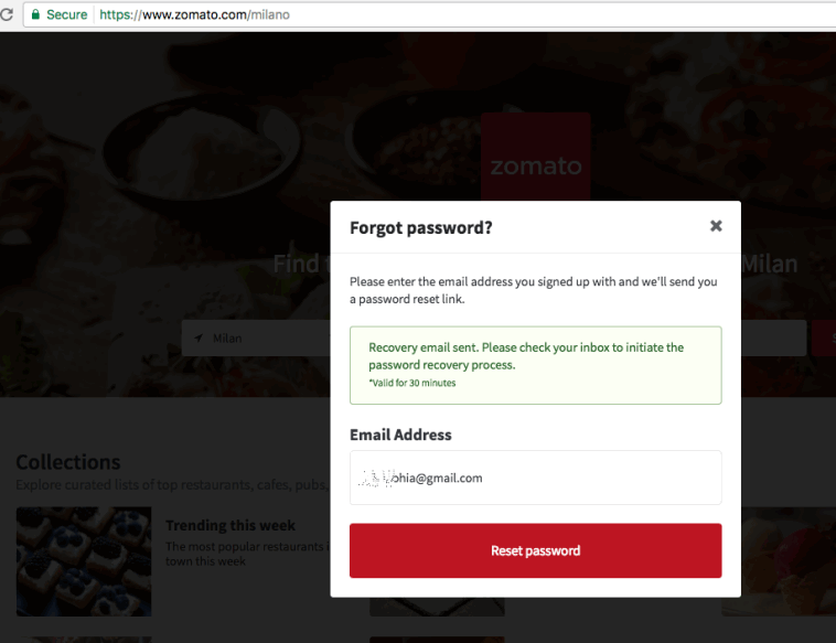 Zomato' a Restaurant service website hacked with 17 million