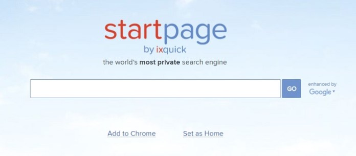 IXquick Start Page